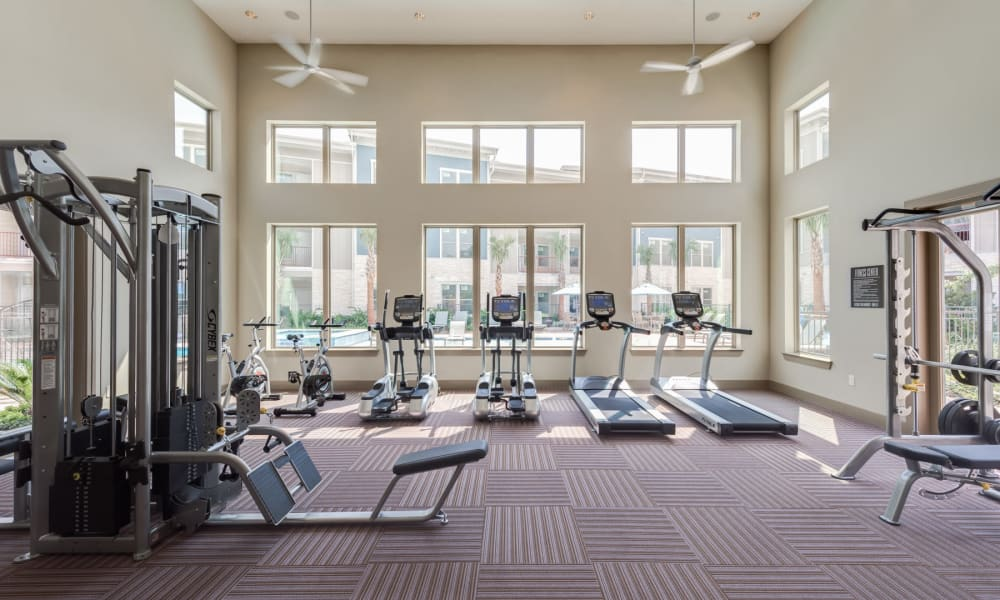 Fitness center at 91 Fifty in Houston, Texas