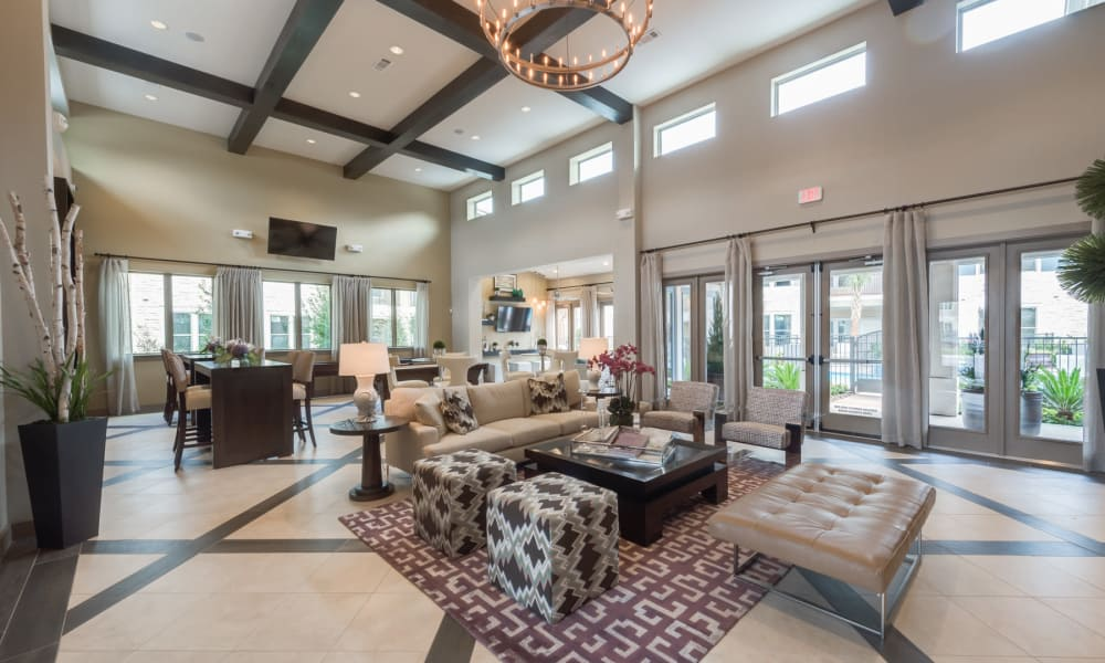Spacious and comfortable clubhouse at 91 Fifty in Houston, Texas
