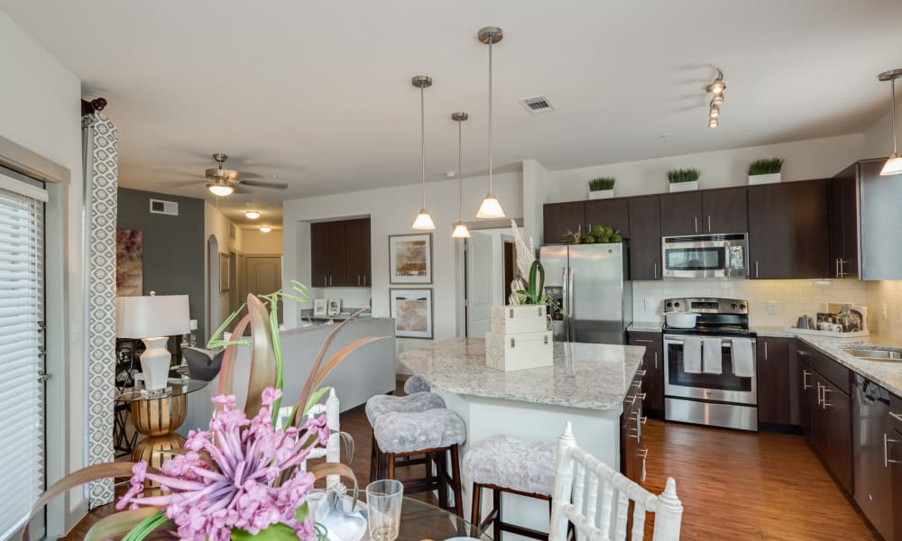 Apartment with hardwood flooring at 91 Fifty in Houston, Texas