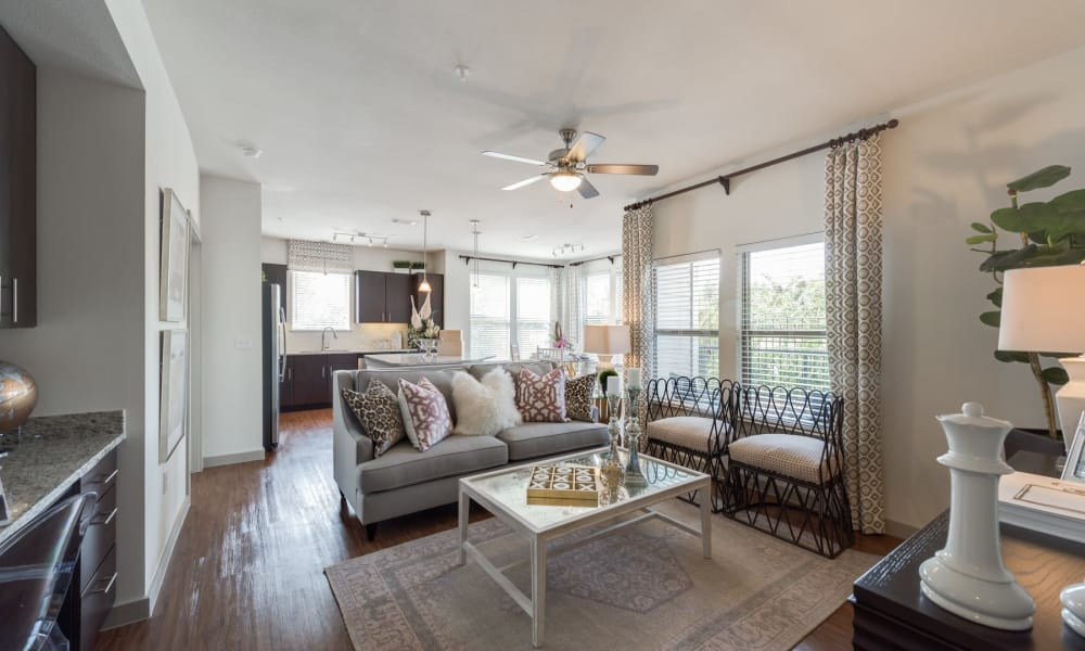 Our apartments in Houston, Texas showcase a modern living room