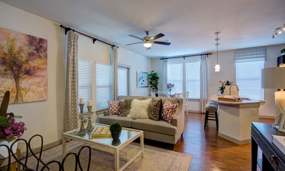 91 Fifty offers a beautiful apartment interior in Houston, Texas
