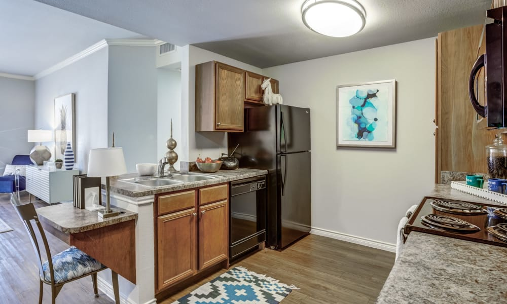 Azul Apartment Homes offers a kitchen room in San Antonio, Texas