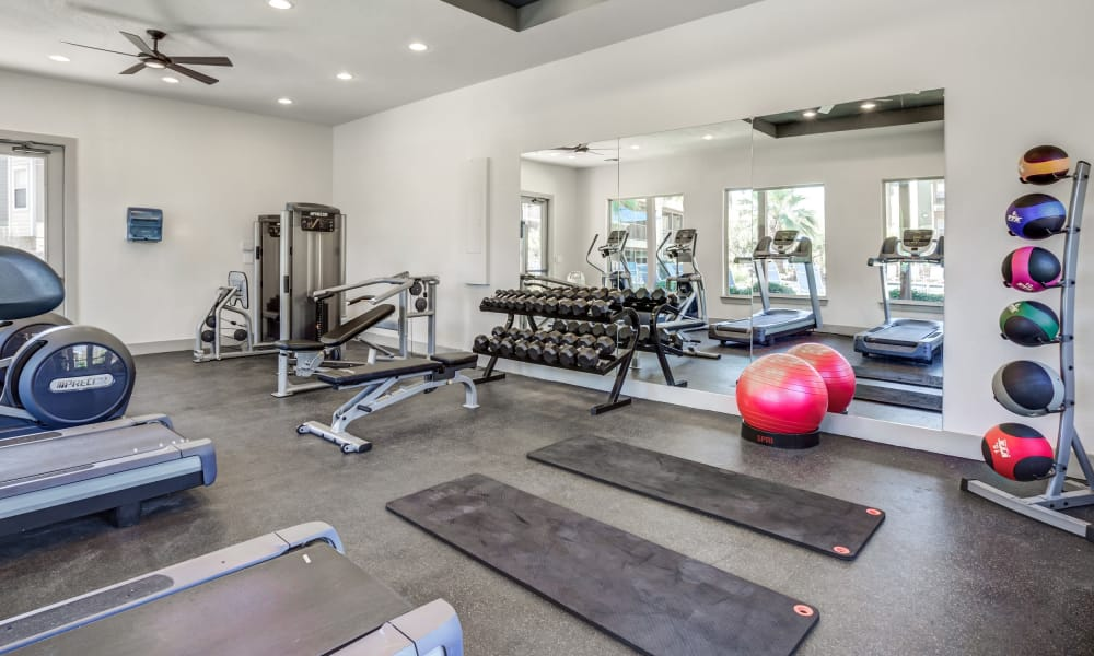 Azul Apartment Homes offers a fitness center in San Antonio, Texas