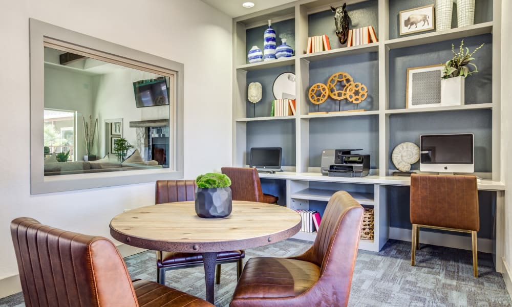 Business center at Azul Apartment Homes in San Antonio, Texas
