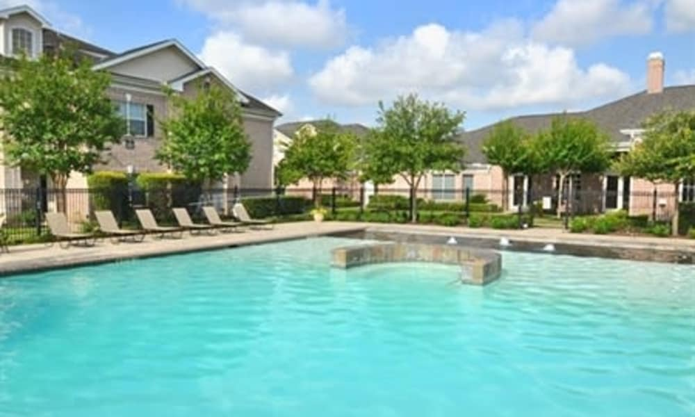 Swimming pool at Ashley House in Katy, Texas