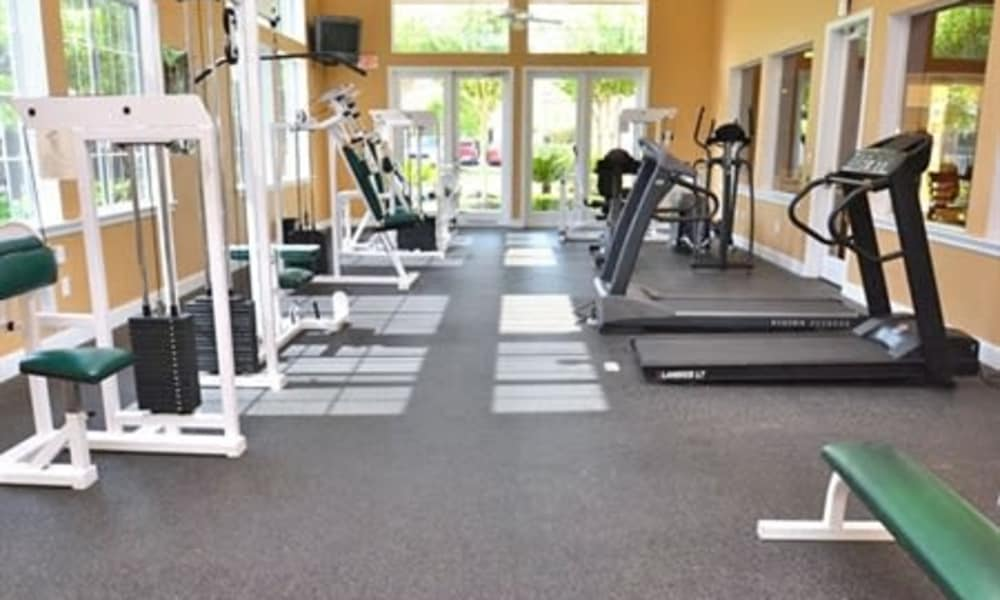 Fitness center at Ashley House in Katy, Texas