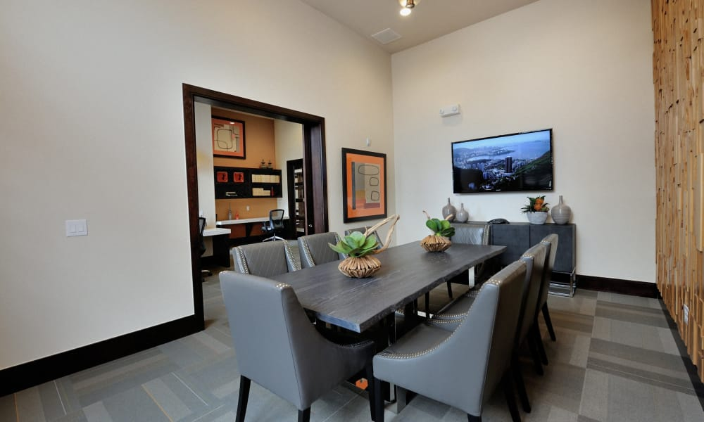 Clubhouse meeting room at Cordevalle Apartments in Round Rock, Texas