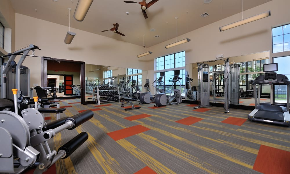 Fitness center at Cordevalle Apartments in Round Rock, Texas