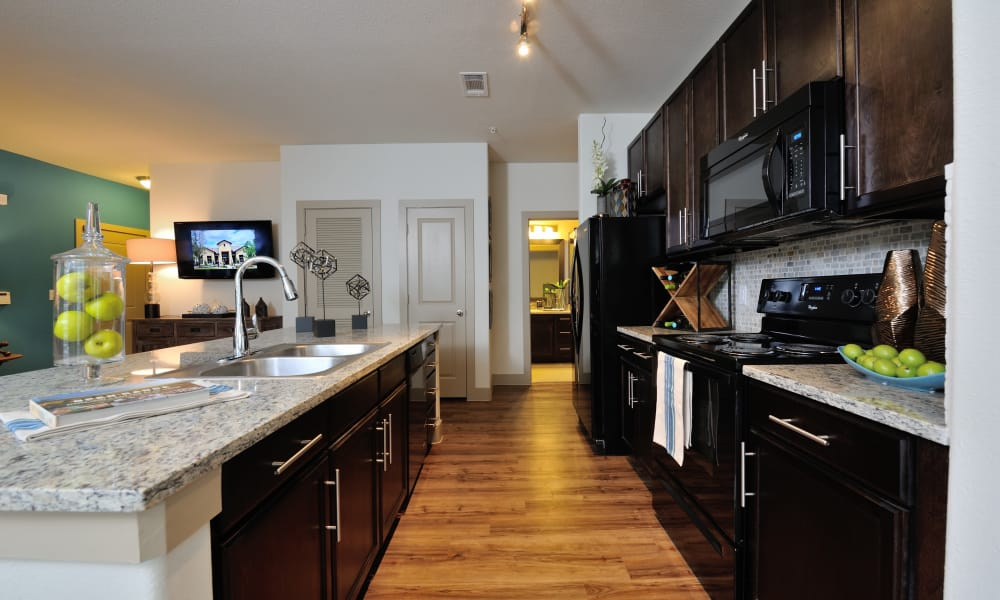 Fully equipped kitchen at Cordevalle Apartments in Round Rock, Texas