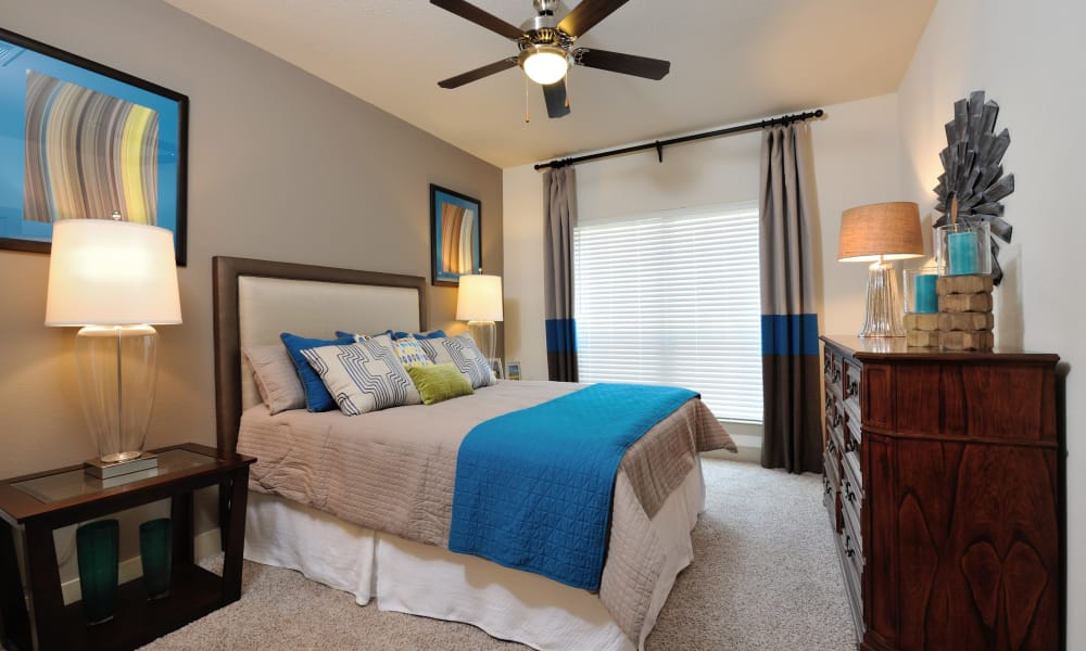 Cordevalle Apartments offers a naturally well-lit bedroom in Round Rock, Texas