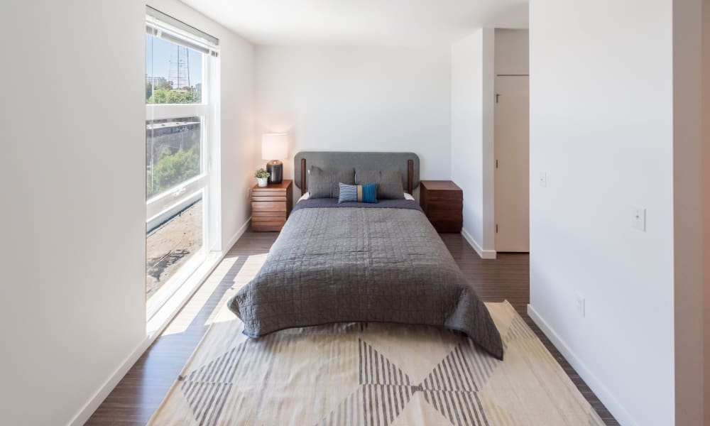 Master bedroom at Session Apartments in Seattle