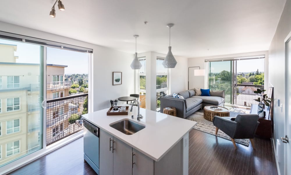 Large open floor plans at Session Apartments in Seattle