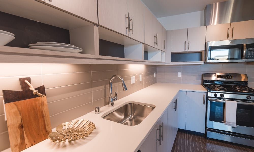 Great counter tops at Session Apartments in Seattle