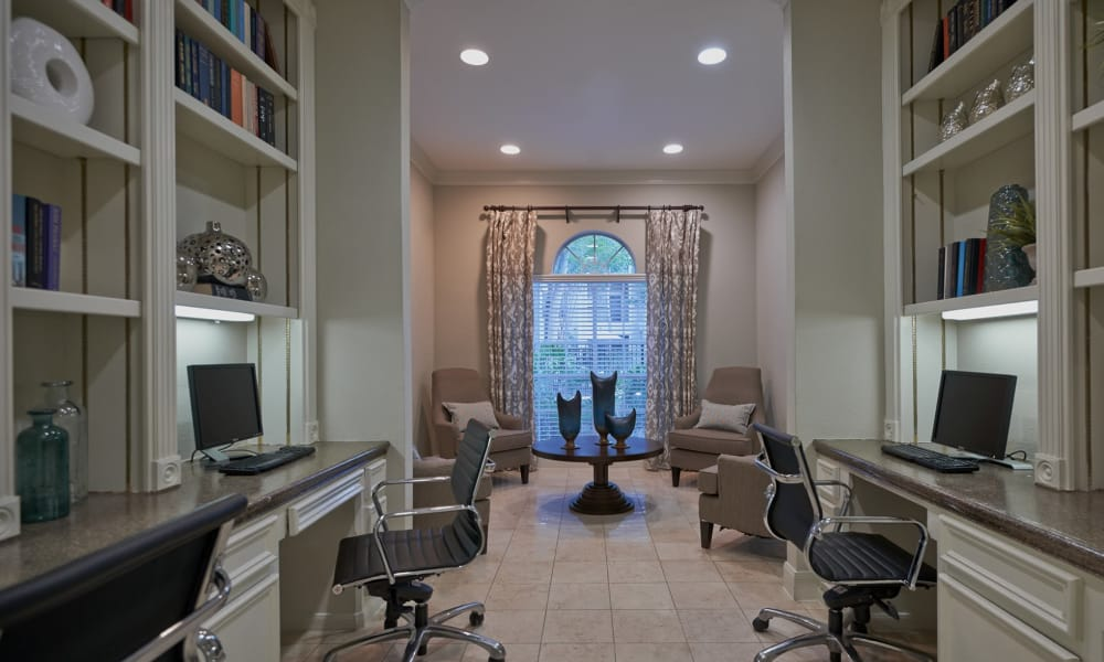 Business center at Preserve at Cypress Creek in Houston, Texas