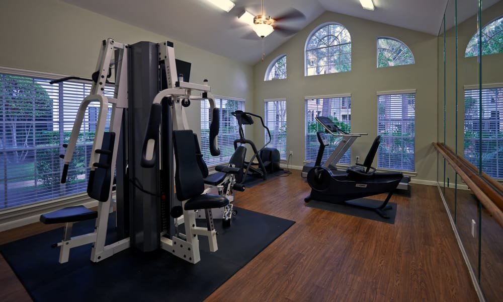 Fitness center at Preserve at Cypress Creek in Houston, Texas
