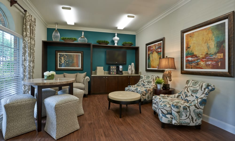Living room at Preserve at Cypress Creek in Houston, Texas