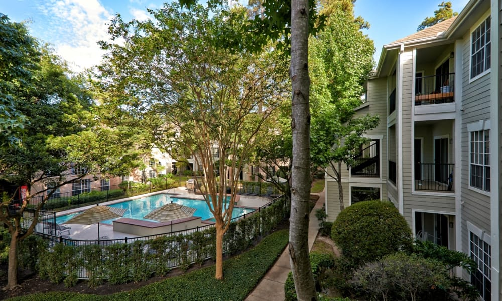 Courtyard with pool at Preserve at Cypress Creek in Houston, Texas