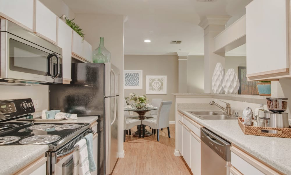 Fully equipped kitchen at Preserve at Cypress Creek in Houston, Texas