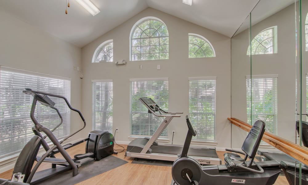 Preserve at Cypress Creek offers a fitness center in Houston, Texas