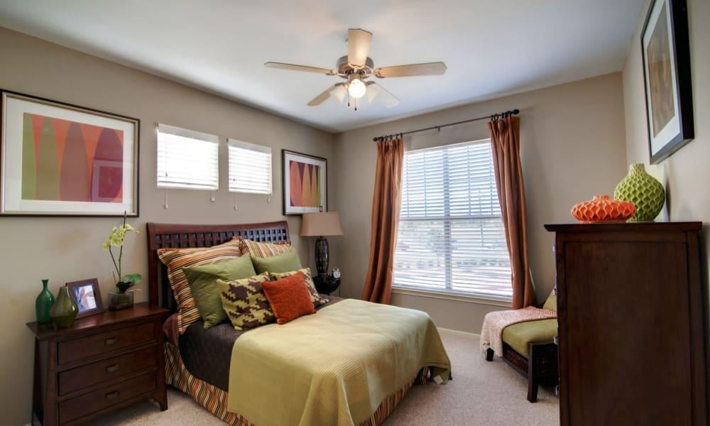 Spacious bedroom at Riverside Villas in Fort Worth, Texas