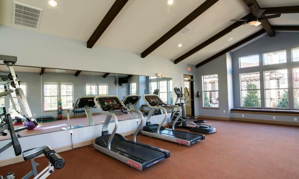 Fitness center at Riverside Villas in Fort Worth, Texas