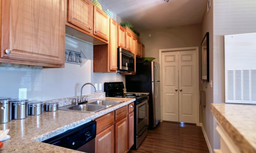 Kitchen at Riverside Villas in Fort Worth, Texas