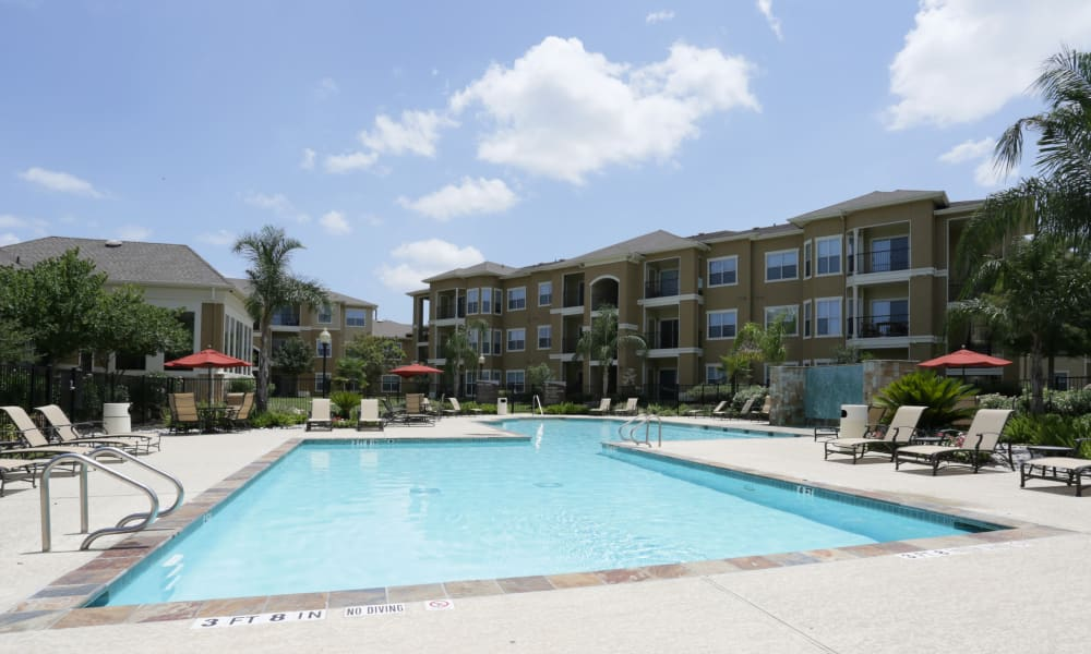 Swimming pool at apartments in Richmond, Texas