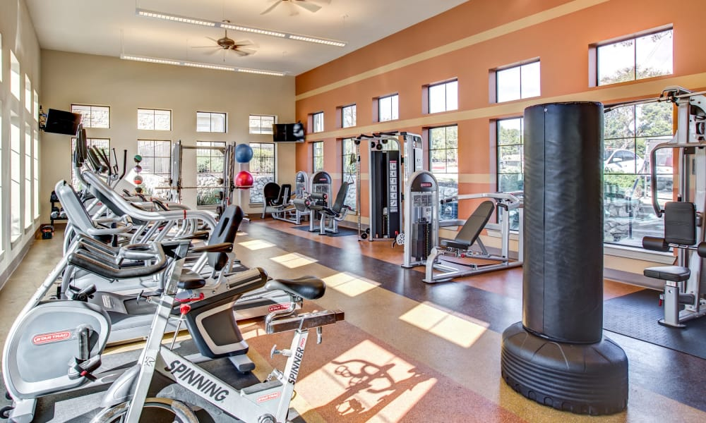 Fitness center at Estates at Bee Cave in Bee Cave, Texas