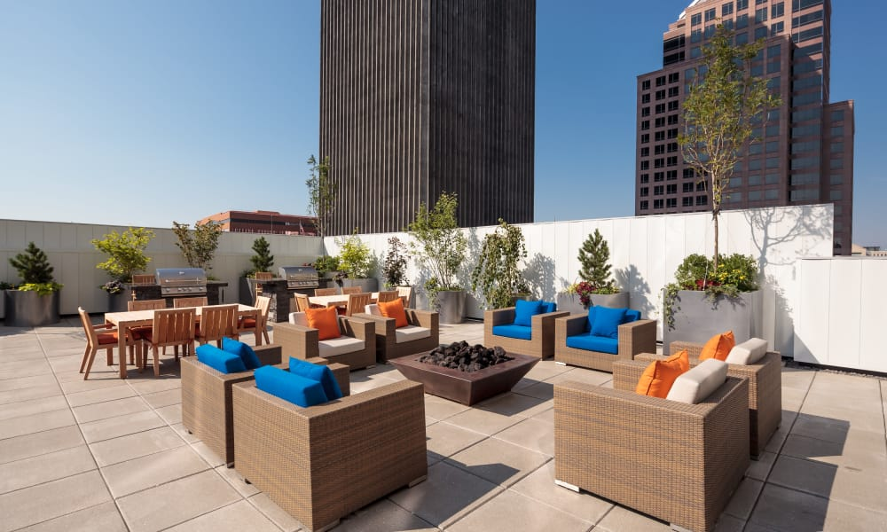 Roof top patio at Tower280 in Rochester, NY