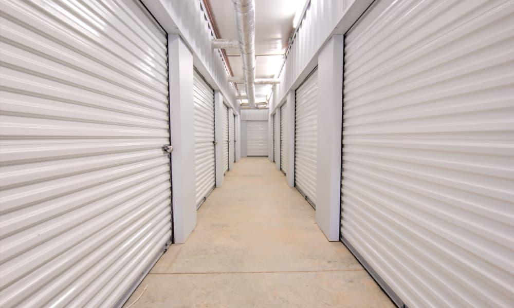 Hallway of units at An Extra Room Self Storage in Midland, Georgia