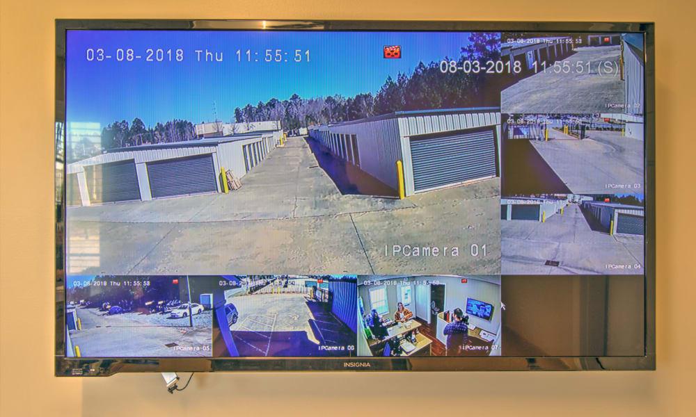 Surveillance monitor at An Extra Room Self Storage in Midland, Georgia