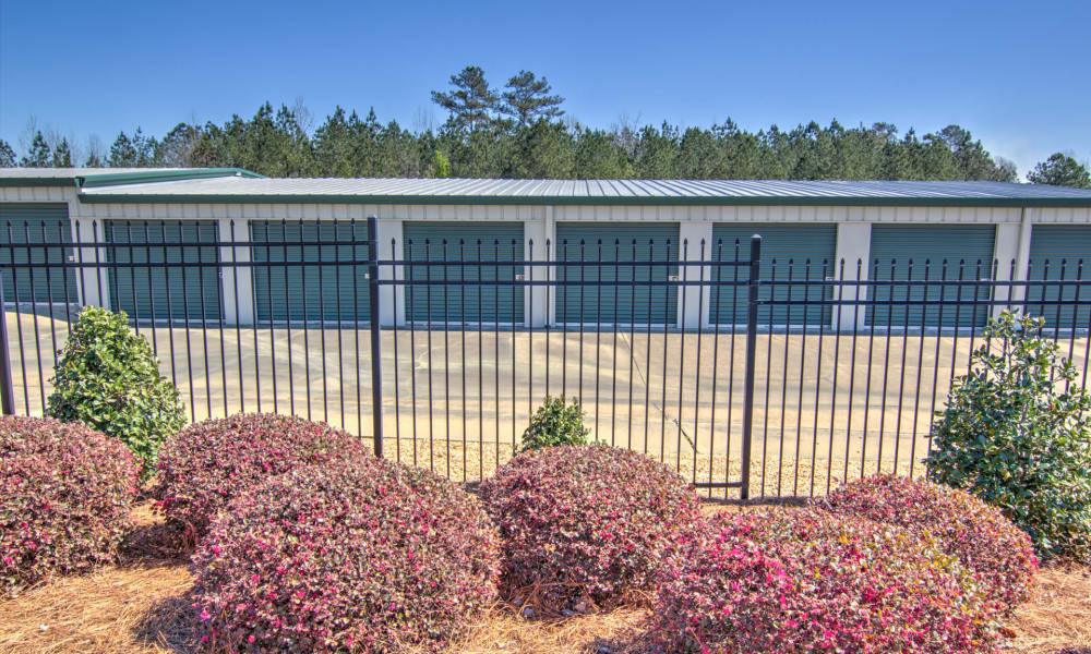 Row of units at An Extra Room Self Storage in Midland, Georgia