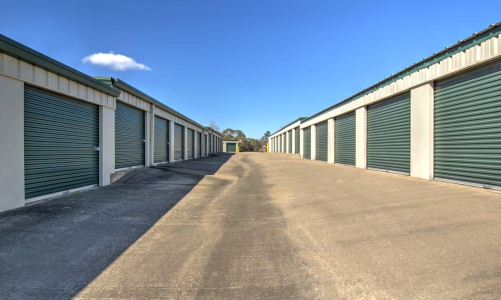 Wide driveways at An Extra Room Self Storage in Midland, Georgia