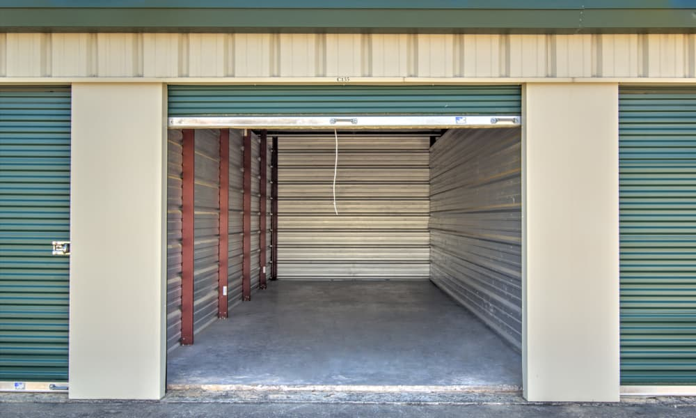 Interior of unit at An Extra Room Self Storage in Midland, Georgia