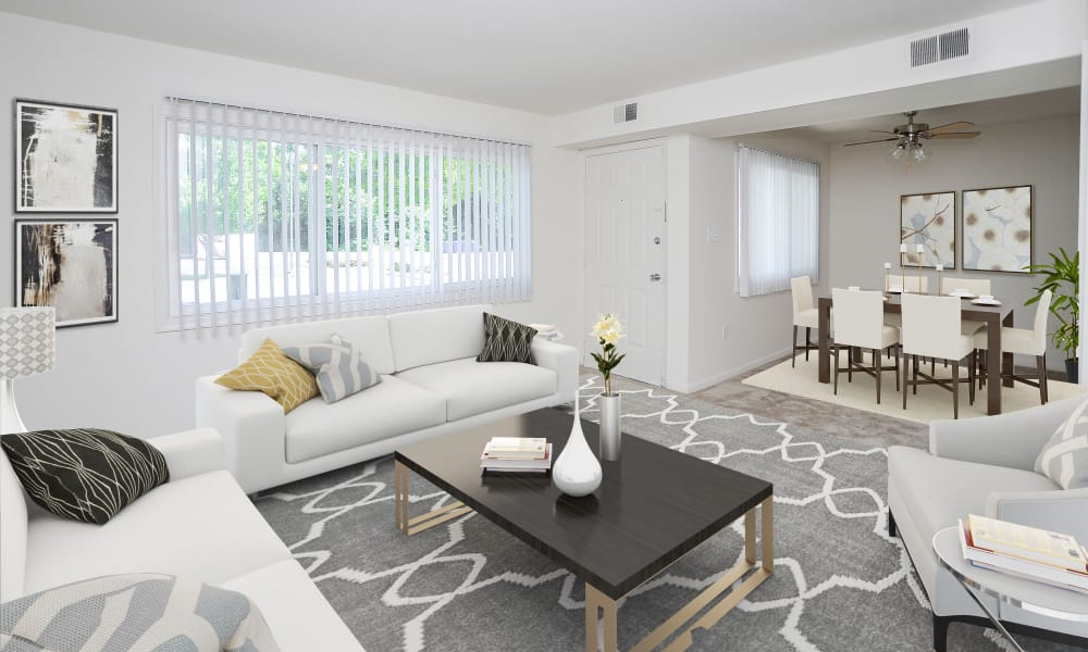 Living room at Seagrass Cove Apartment Homes in Pleasantville, New Jersey