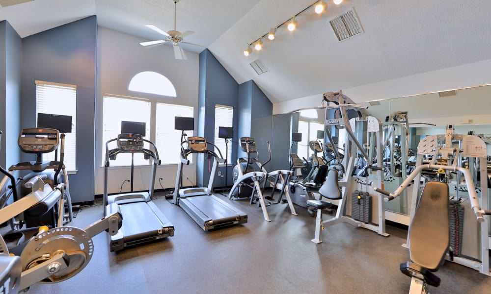Fitness area at The Apartments at Diamond Ridge in Baltimore, MD
