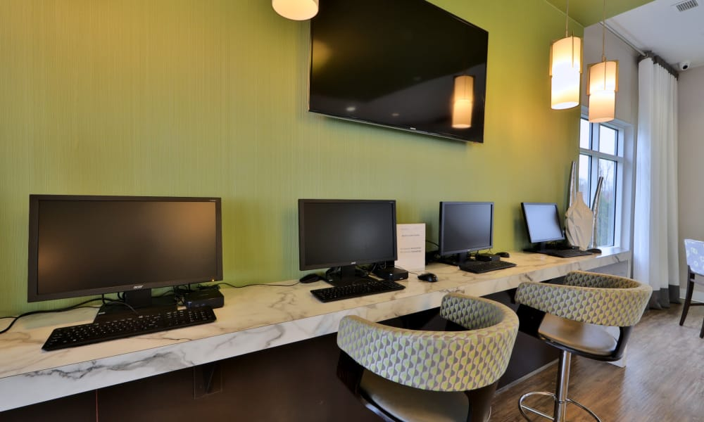 Computer center at The Townhomes at Diamond Ridge in Baltimore, MD