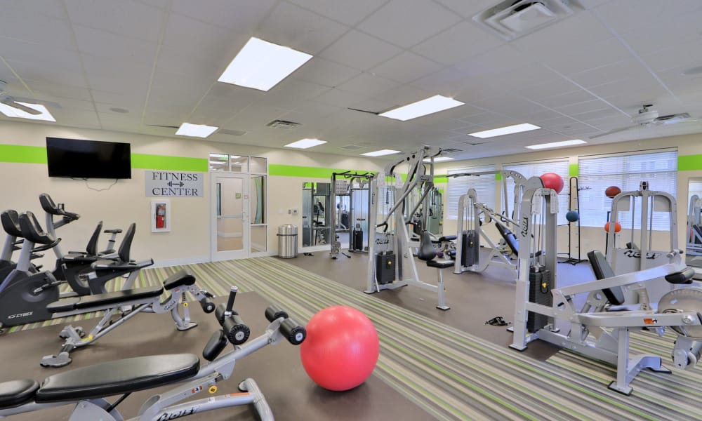 Fitness room at The Townhomes at Diamond Ridge in Baltimore, MD