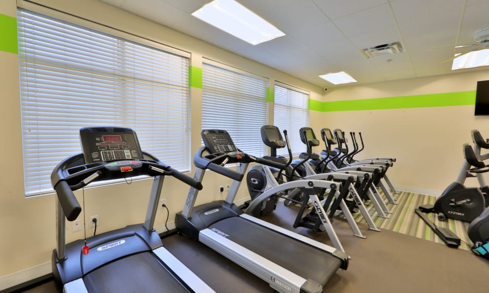 Fitness equipment at The Townhomes at Diamond Ridge in Baltimore, MD