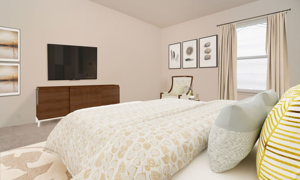 Beautiful Bedroom at The Greens at Westgate Apartment Homes in York, Pennsylvania