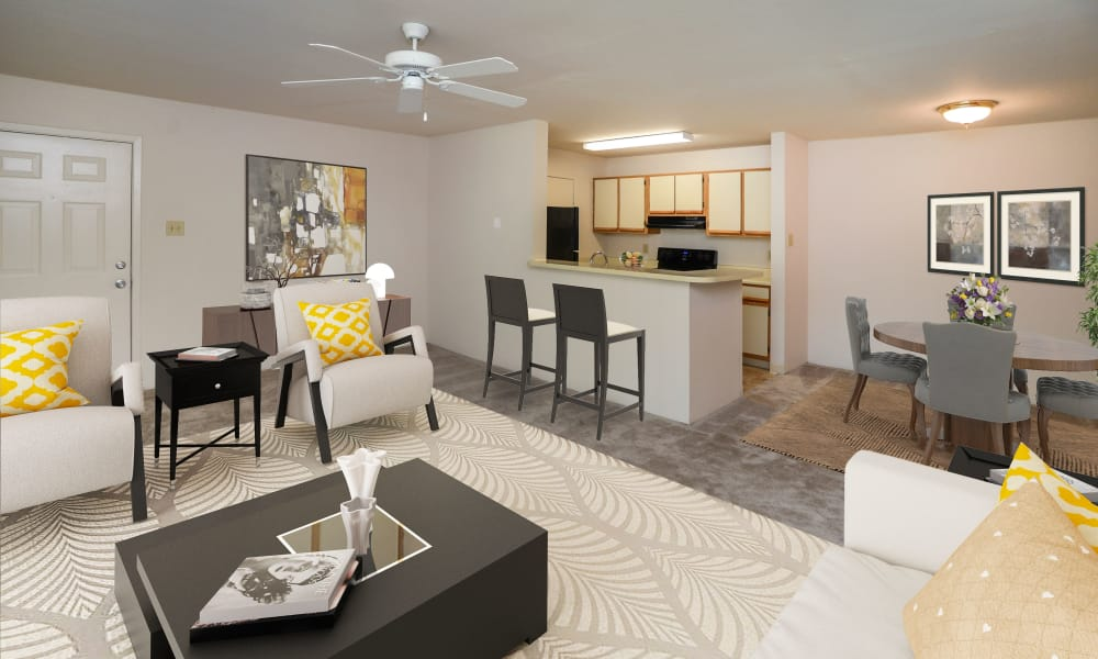 Beautiful Spacious Living Room at The Greens at Westgate Apartment Homes in York, Pennsylvania