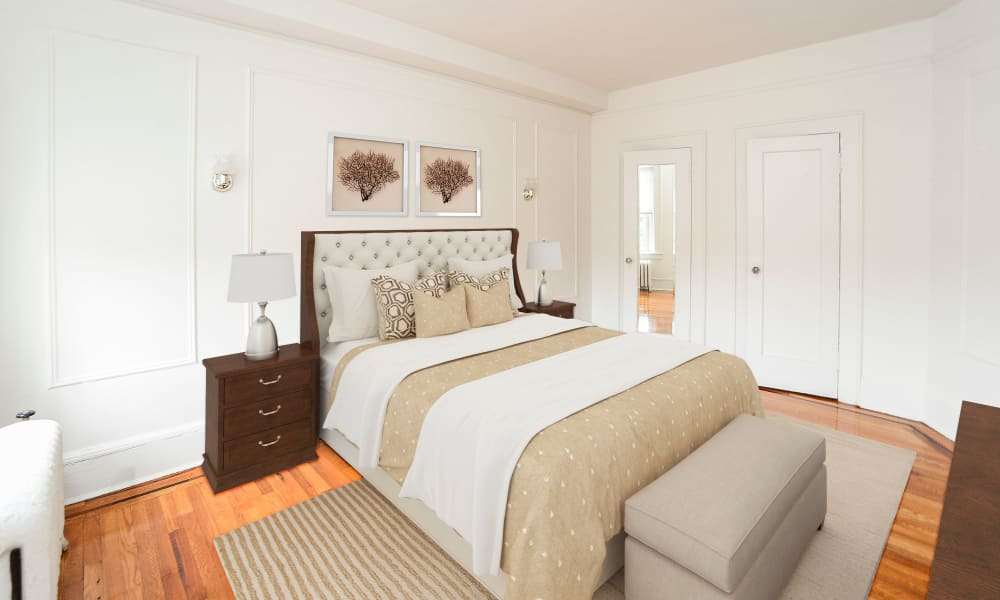 Bedroom at Apartments in Montclair, New Jersey