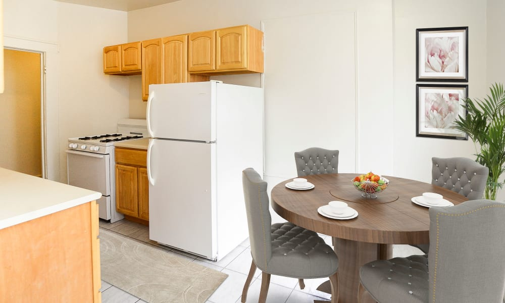 Kitchen & Dining Area at St. Lukes Place Apartment Homes in Montclair, New Jersey