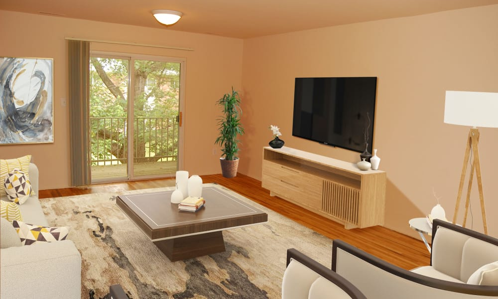 Living Room at Tanglewood Terrace Apartment Homes in Piscataway, New Jersey