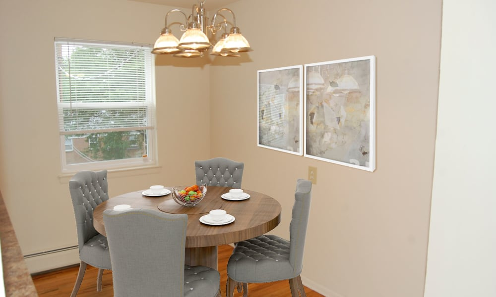 Dining Room at Village Green Apartment Homes in South River, NJ