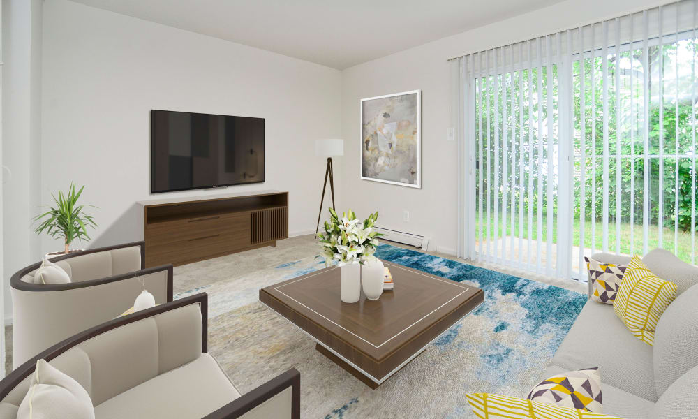 Beautiful Living Room at Vineland Village Apartment Homes in Vineland, New Jersey