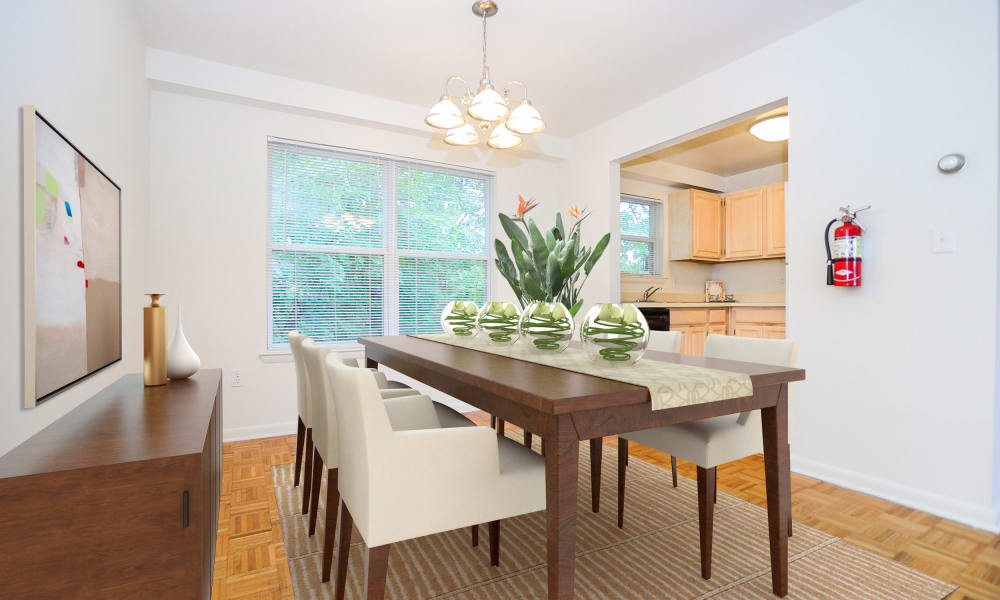 Dining room at Westview Apartment Homes in Westwood, New Jersey