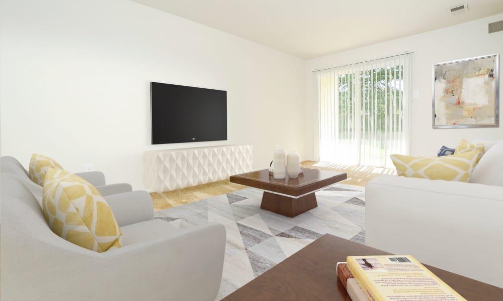 Living Room at Westwood Gardens Apartment Homes in West Deptford, NJ