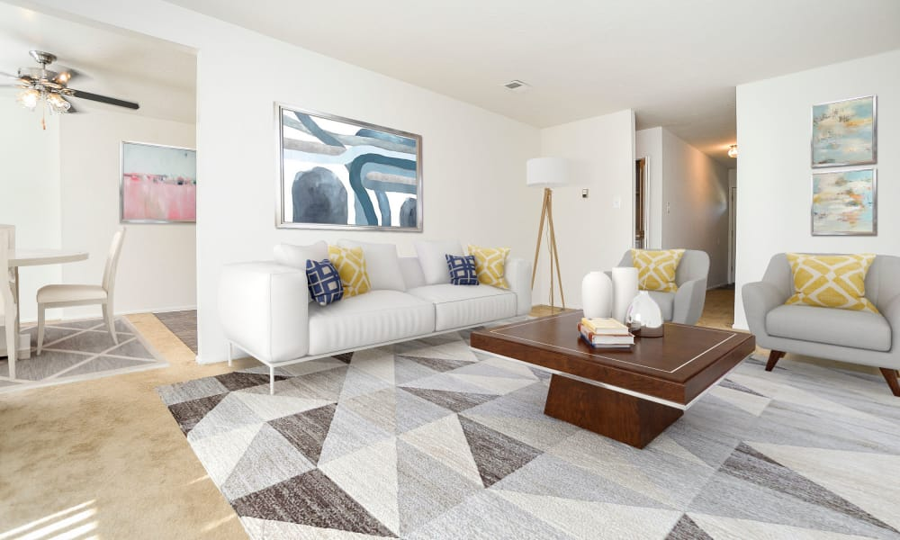 Beautiful Living Room at Westwood Gardens Apartment Homes in West Deptford, NJ