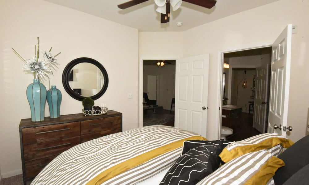Spacious bedroom at Augusta Meadows in Tomball, Texas